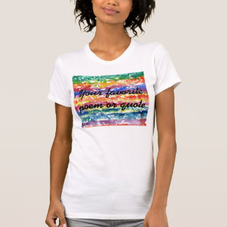 Tie Dye Watercolor Painting Background T Shirt