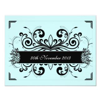 Tiffany Blue Floral Invite