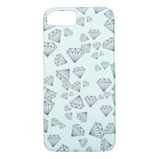 Tiffany Blue Geometric Diamond iPhone 7 Case
