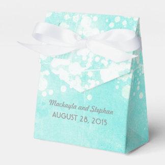 tiffany blue wedding string lights glitz favour box