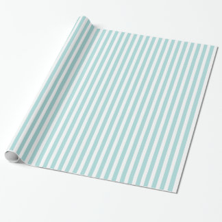 Tiffany Blue & White Striped Pattern Wrapping Paper