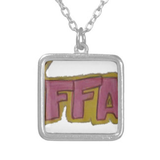 TIFFANY Name Logo Silver Plated Necklace