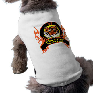 Tiger 95th Birthday Gifts Sleeveless Dog Shirt