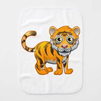 Tiger Animal Cartoon Character Baby Burp Cloth