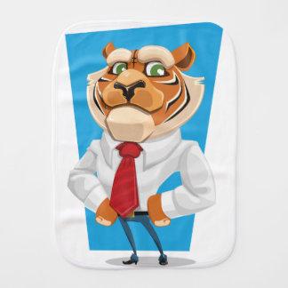 tiger baby burp cloths