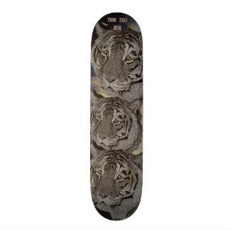 tiger big cat wildlife realist art design 20.6 cm skateboard deck