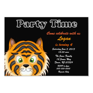 Tiger Birthday Party Invitation