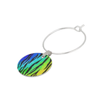 Tiger Black and Rainbow Gifts Wine Charm