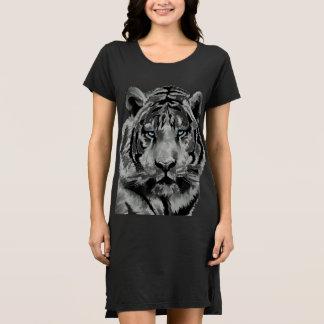 Tiger Black and White Blue eyes Dress