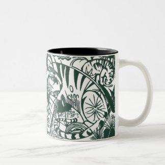 Tiger by Franz Marc, Black and White Fine Art Two-Tone Coffee Mug