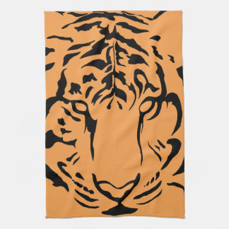 Tiger Close Up Kitchen Towel