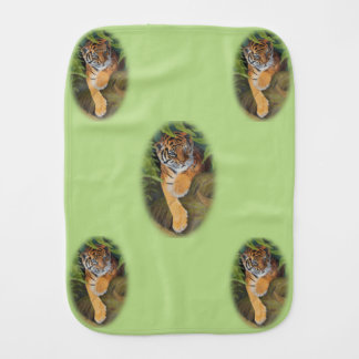 Tiger Cub Burp Cloth