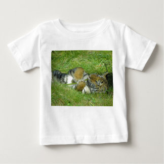 Tiger Cub Playing With a Stick Baby T-Shirt