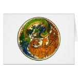 Tiger & Dragon Yin Yang Greeting Card