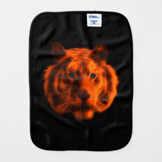 Tiger Face Baby Burp Cloths