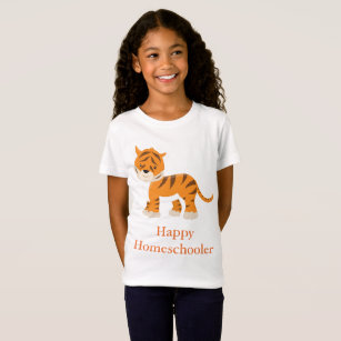 Tiger Happy Homeschooler T-Shirt