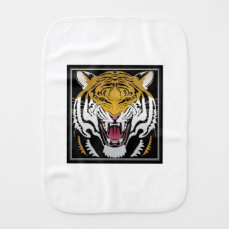 Tiger Head Baby Burp Cloths