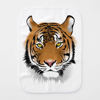 Tiger Head Print Design Burp Cloth