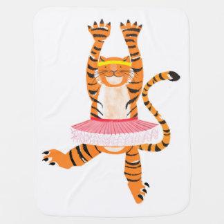 Tiger in a Tutu Baby Blanket