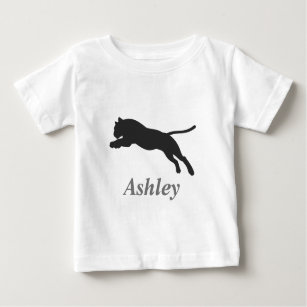 Tiger  jumping  silhouette baby T-Shirt