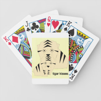 tiger kisses bicycle playing cards