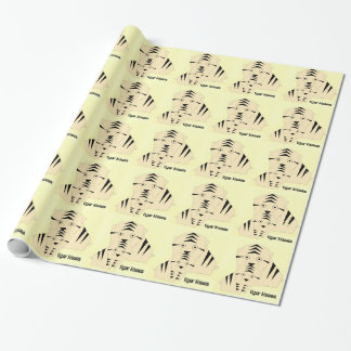 tiger kisses wrapping paper