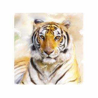 tiger photo sculpture badge