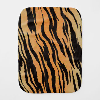 Tiger Print Baby Burp Cloths