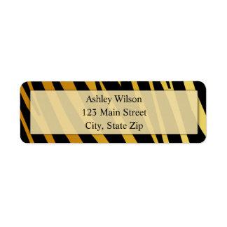 Tiger Print Return Address Labels
