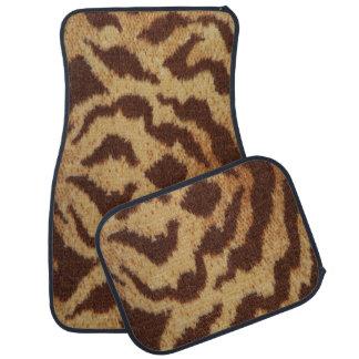 Tiger Print Set of 4 Car Mats Floor Mat