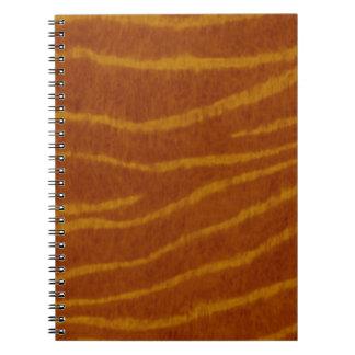 Tiger Print Spiral Notebook