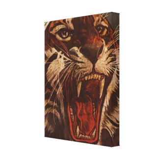 Tiger Roar Vintage Canvas Print