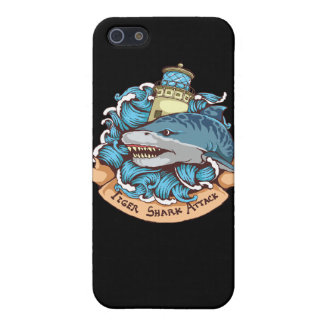 Tiger Shark Attack Lighthouse Tattoo Style Art Case For The iPhone 5