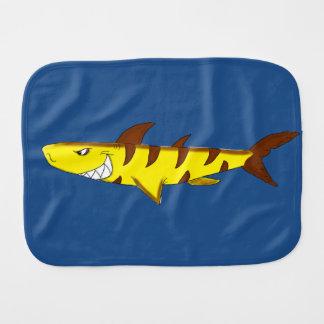 Tiger shark burp cloth