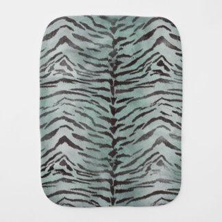 Tiger Skin Print in Jade Baby Burp Cloth