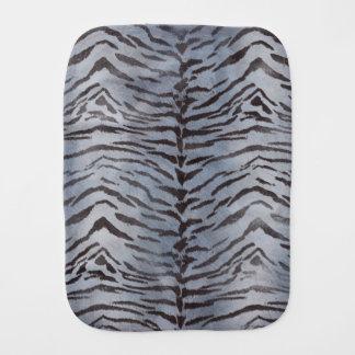 Tiger Skin Print in Silver Burp Cloths