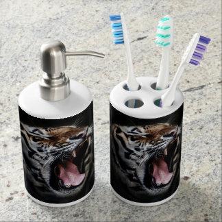Tiger Soap Dispenser and Toothbrush Holder