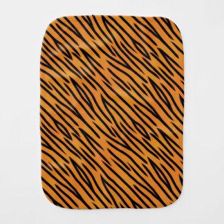 Tiger Stripe Pattern Baby Burp Cloths