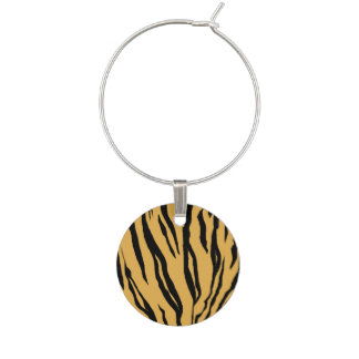 Tiger Stripes Wine Charm