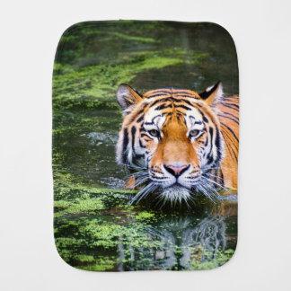 Tiger Swimming Burp Cloth