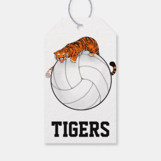 Tiger Volleyball gift tags