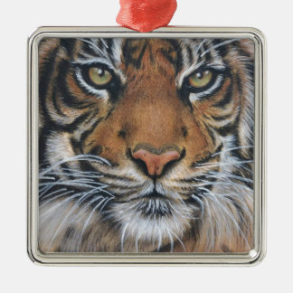 Tiger Wildlife Animal art Christmas Ornament