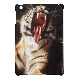 Tiger with mouth open iPad mini cover