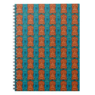 Tiki Crack Up Pattern Notebooks