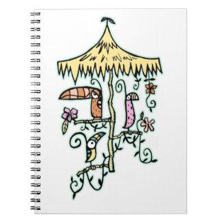 Tiki Room Birds on a Perch by Tiki tOny Notebooks