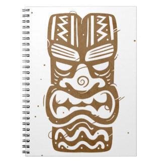 Tiki Spiral Notebook