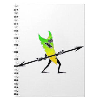 Tiki Surfer Green Notebooks