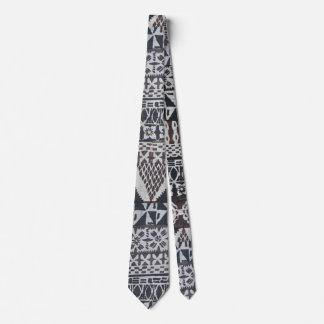 Tiki tapa cloth necktie