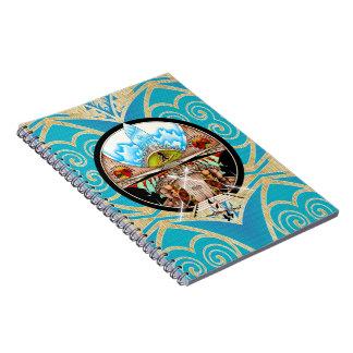 Tiki Village Spiral Notebook