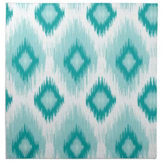 Tiled Chic Blue iKat Napkin